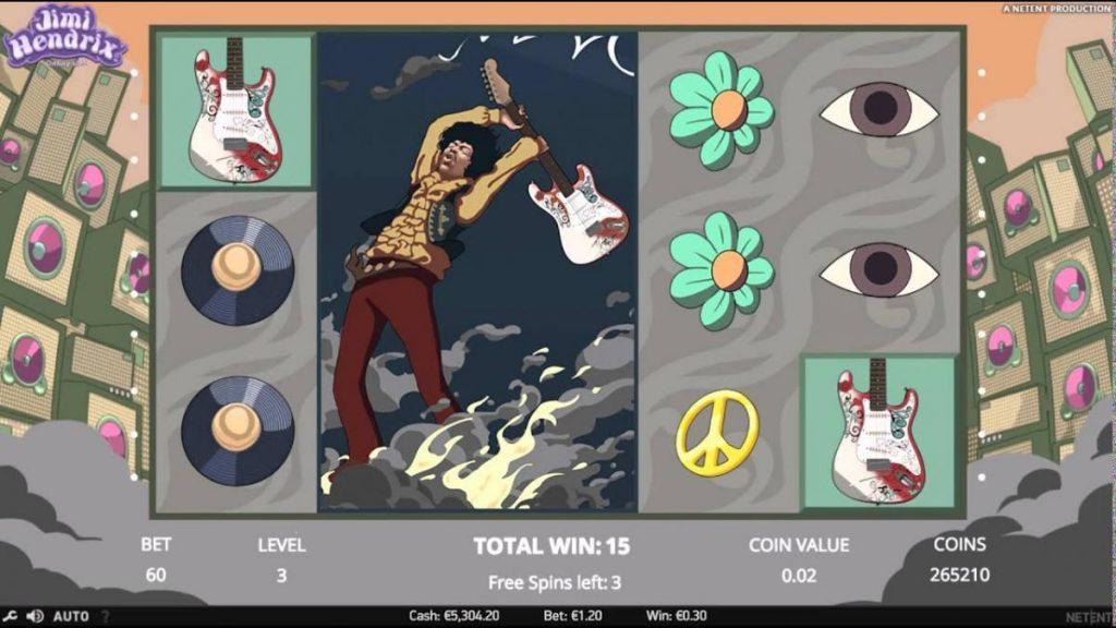 Jimi Hendrix-พนัน